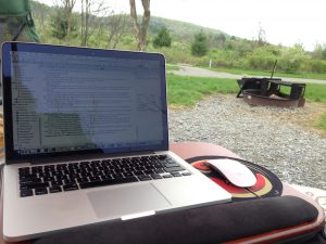 writer's retreat - solo camping