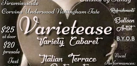 Varietease Cabaret! ~ Friday, January 24, 2020 @ 8pm